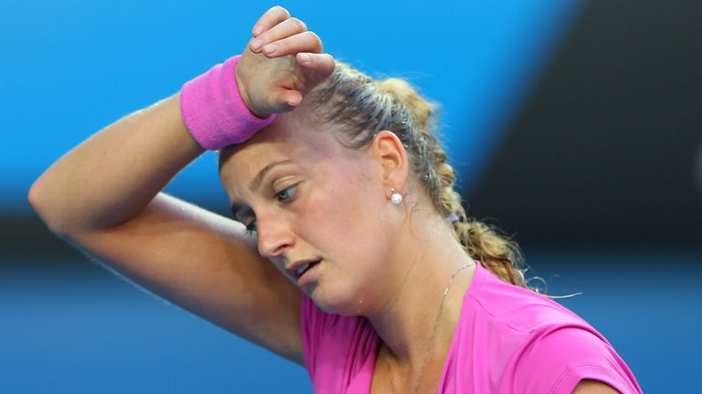 Petra Kvitova: Let slip a 5-3 lead in the second set against Alisa Kleybanova