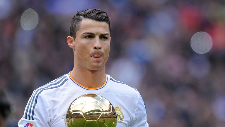 Cristiano Ronaldo: Shows off his Ballon d'Or before Granada game