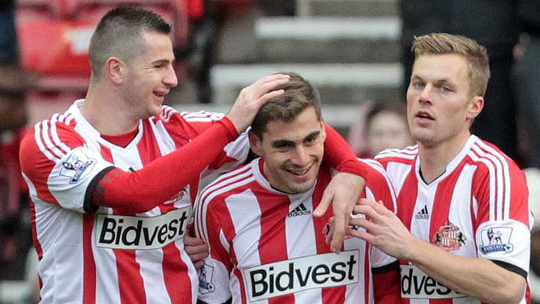 Sunderland celebrate Charis Mavrias' goal against Kidderminster