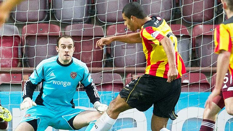Lyle Taylor: Opens the scoring for Partick at Hearts