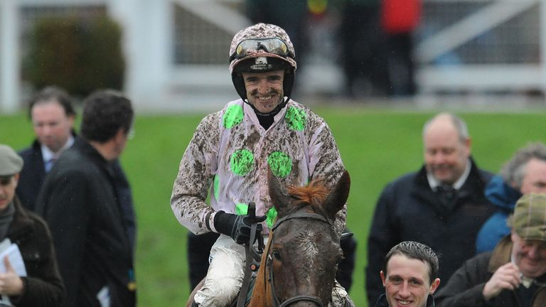 Annie Power returns to the winner's enclosure after her latest victory