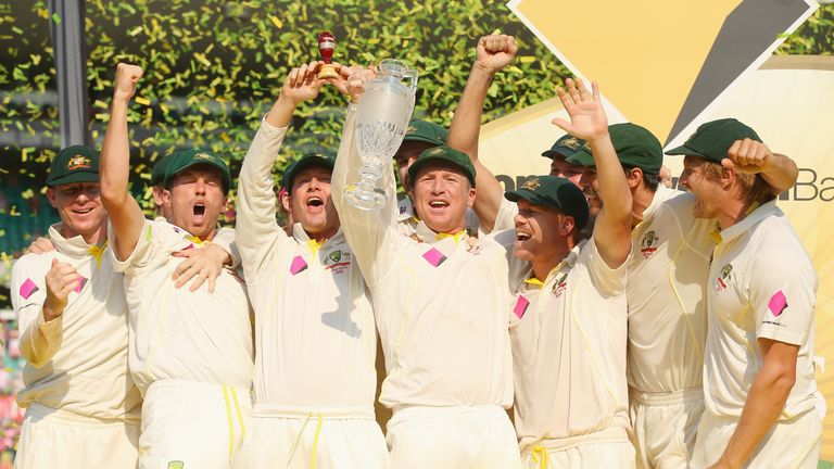 Ashes: Australia celebrate winning the latest Ashes series