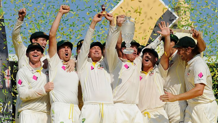 Australia celebrate their Ashes whitewash