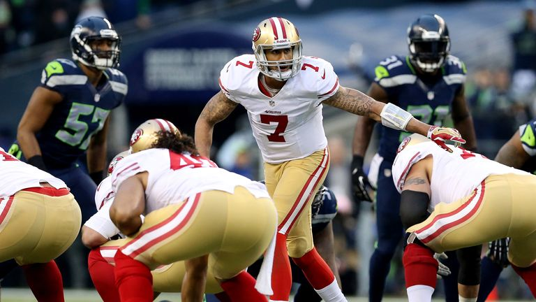 Colin Kaepernick in action