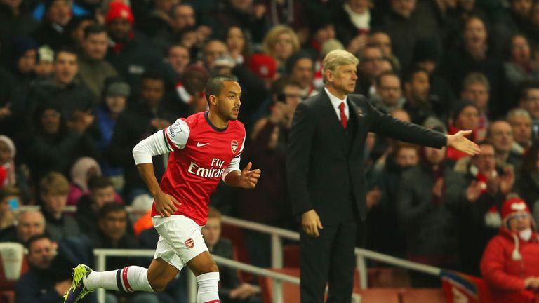 Theo Walcott: Praised by Arsene Wenger following performance against Tottenham