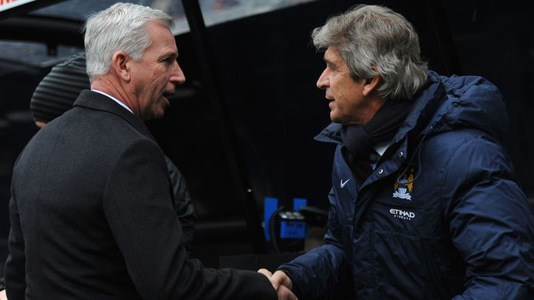 Alan Pardew: Clashed with Manuel Pellegrini at St James' Park on Sunday