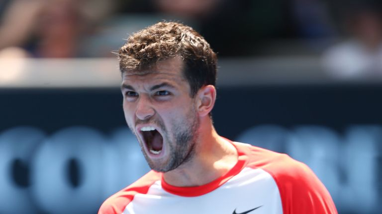 Grigor Dimitrov: Battled past Andy Murray in just under three hours