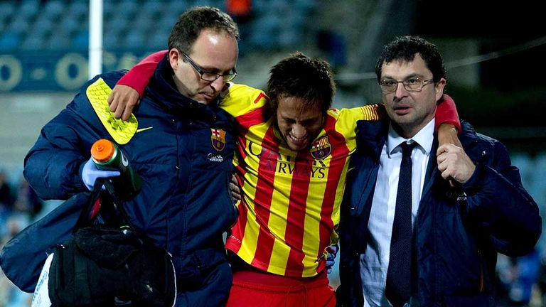Neymar: In agony after injury against Getafe on Thursday