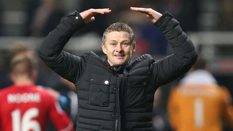 Ole Gunnar Solskjaer: Delighted after Cardiff win in his first game