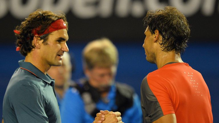 Roger Federer (left): Swiss has lost 23 of his 33 career meetings with Rafael Nadal