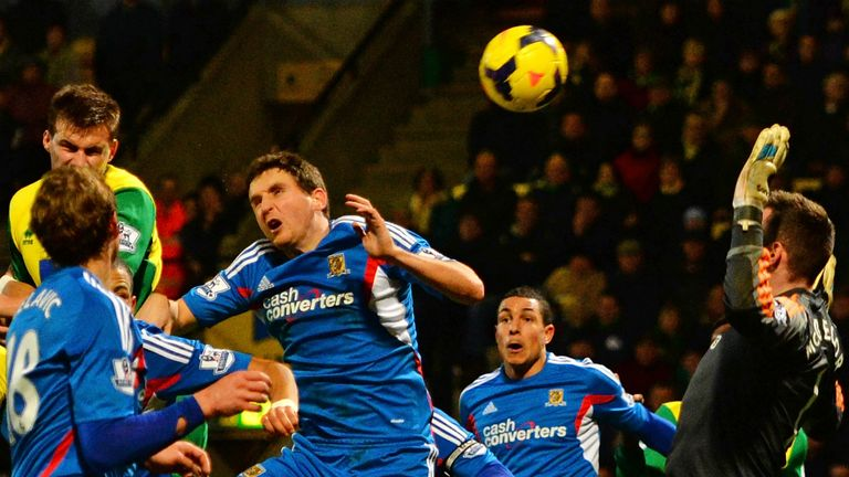 Ryan Bennett: Headed Norwich to a 1-0 victory over Hull City
