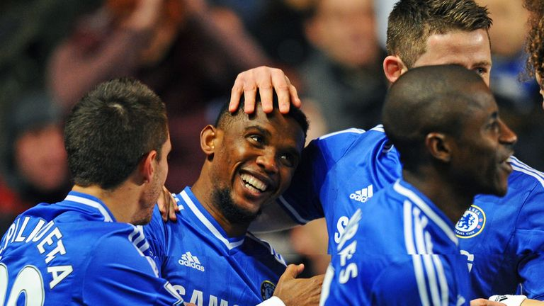 Samuel Eto'o: Chelsea striker grabbed a hat-trick against Manchester United