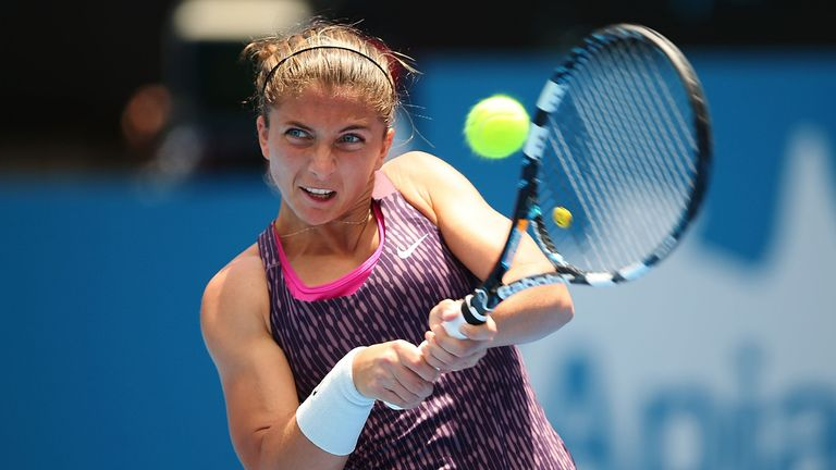 Sara Errani: Had no problems progressing to the second round in Sydney