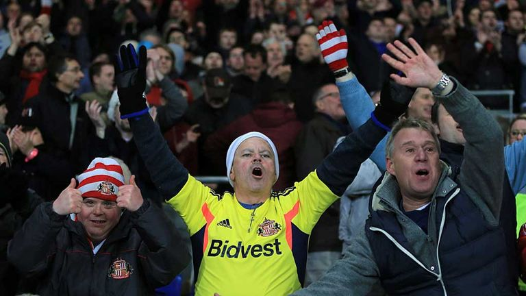 Sunderland fan at the Stadium of Light