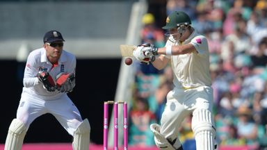 Steve Smith: stroked his third Ashes century on opening day at SCG