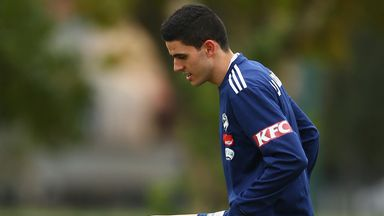 Tom Rogic during training in Melbourne