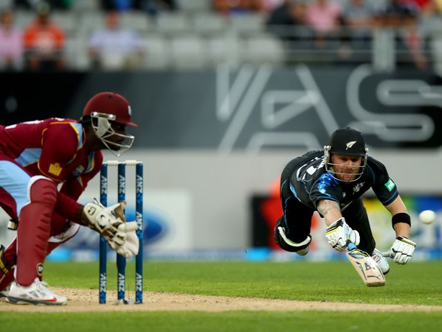 Brendon McCullum on his way to 60 nout out for New Zealand
