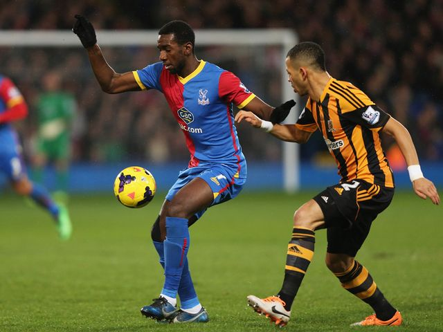 Yannick Bolasie holds off Liam Rosenior