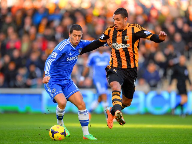 Eden Hazard escapes Jake Livermore's challenge