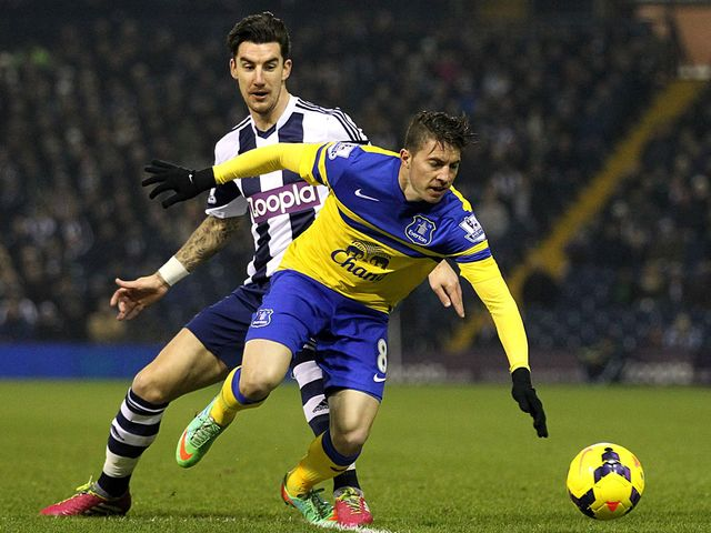 Bryan Oviedo spins away from Liam Ridgewell