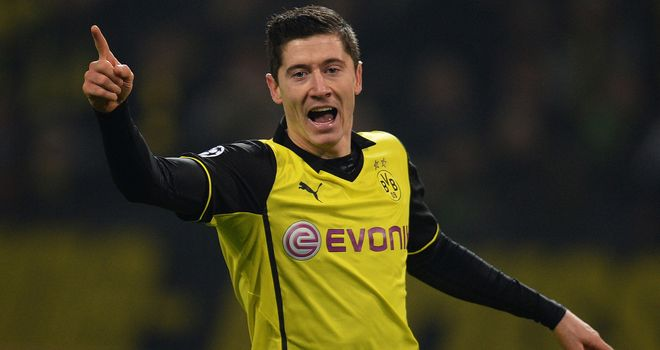 Robert Lewandowski: On target for Dortmund