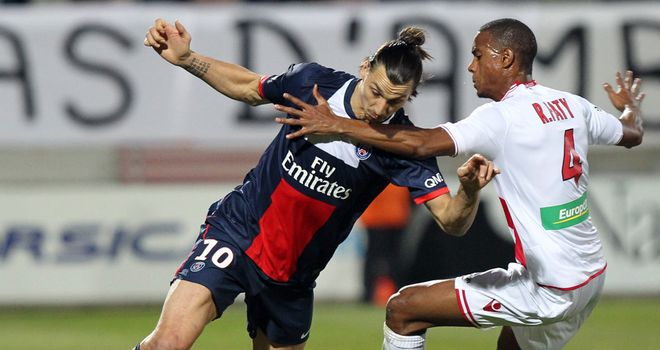Zlatan Ibrahimovic in action for PSG on Saturday
