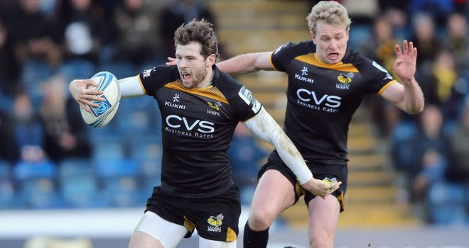 Elliot Daly: three tries in 16 minutes for Wasps