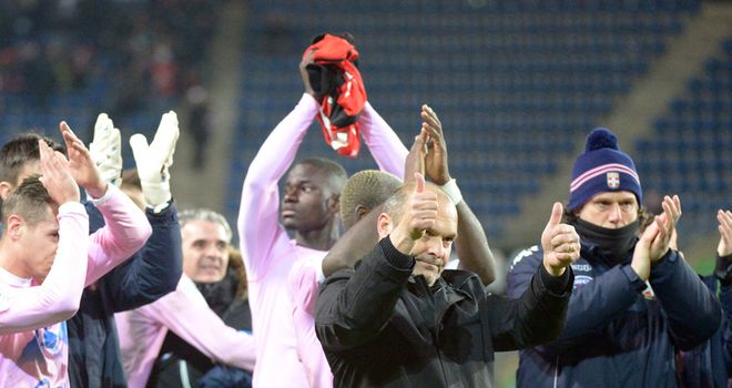 Evian coach Pascal Dupraz says thanks to the fans