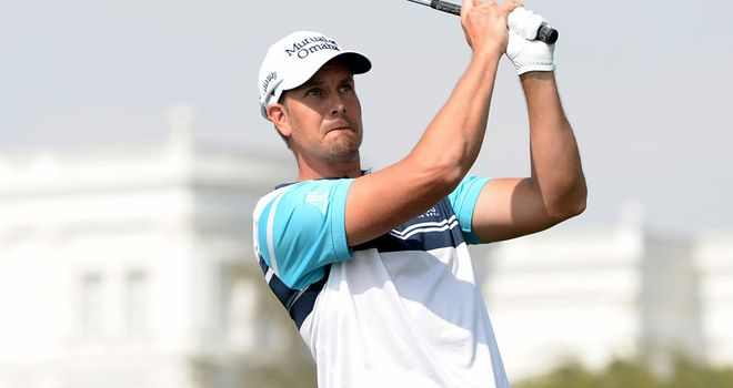 Henrik Stenson practising ahead of this week's Qatar Masters at Doha