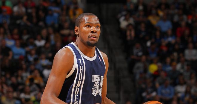 Kevin Durant: Has scored 30 points or more in Thunder's last eight games