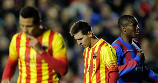 Lionel Messi: Frustrated against Levante
