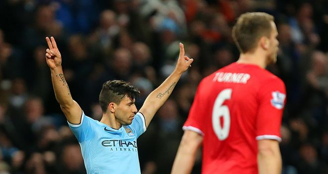 Sergio Aguero's goal capped off another virtuoso display from Manchester City