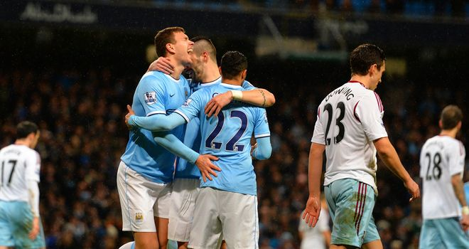 Edin Dzeko: Grabbed two goals against West Ham