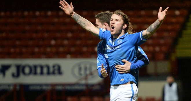Stevie May: Helped St Johnstone on their way to the last eight
