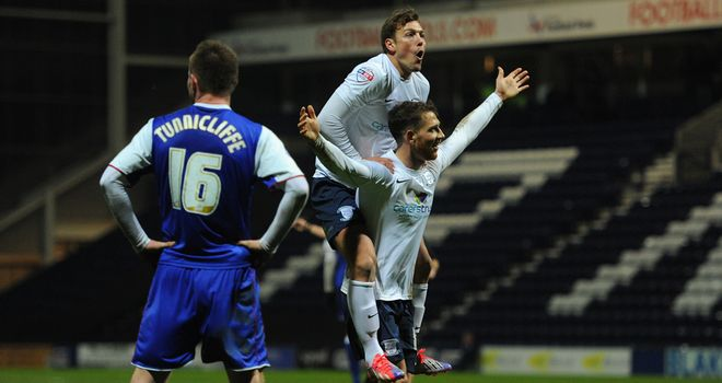 Joe Garner: Scored all three to help Preston progress