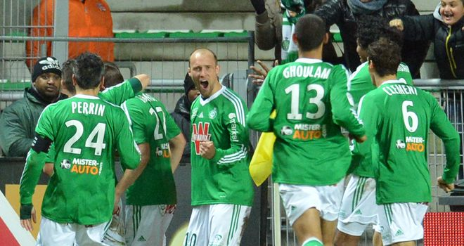 St Etienne celebrate against Lille
