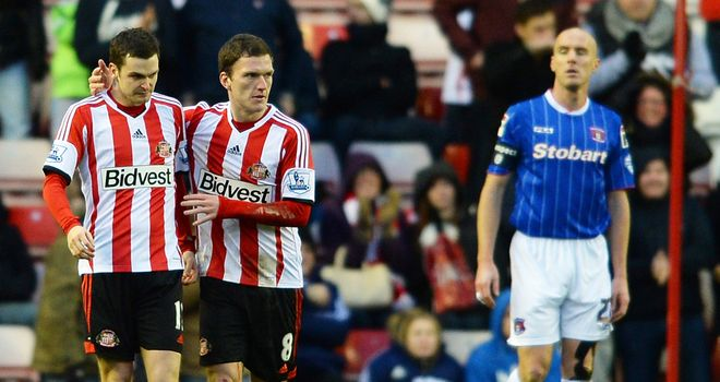 Sean O'Hanlon: Looks on as Sunderland celebrate his own goal