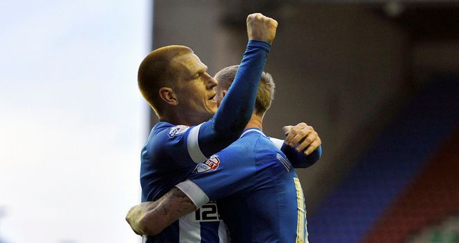 Ben Watson: Celebrates giving his side the lead against Crystal Palace