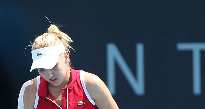 Elena Vesnina: Pulled out her match at the Hobart International with a hip injury