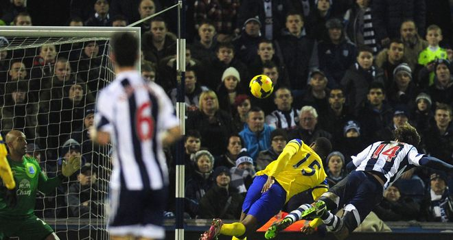 Diego Lugano: Equalises for West Brom with a diving header