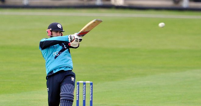 Preston Mommsen: Scotland batsman fell six short of a century