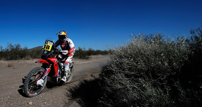 Sam Sunderland: In third place overall after stage two of Dakar Rally