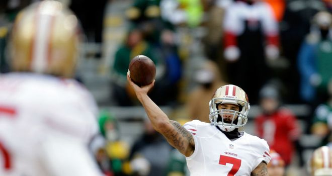 San Francisco led by Colin Kaepernick against Green Bay