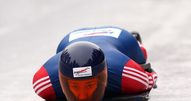 Lizzy Yarnold: Now has a 215-point lead at the top of the World Cup standings