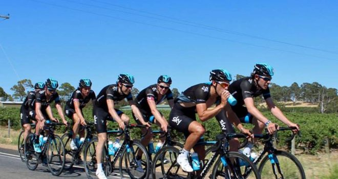 Team Sky have been forced to train early in the morning to avoid the heat (Picture: Team Sky Facebook)