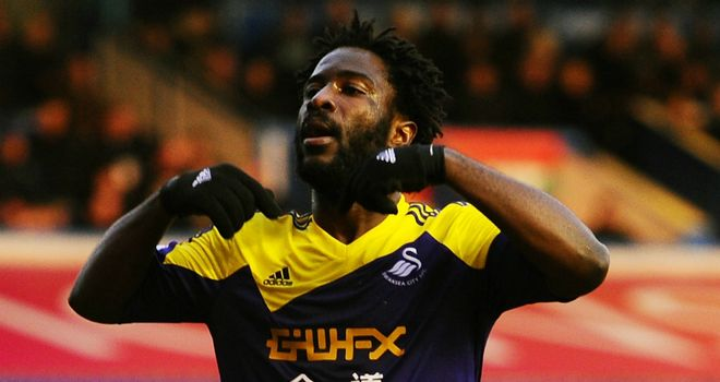 Wilfried Bony: Scored a brace as Swansea beat Birmingham