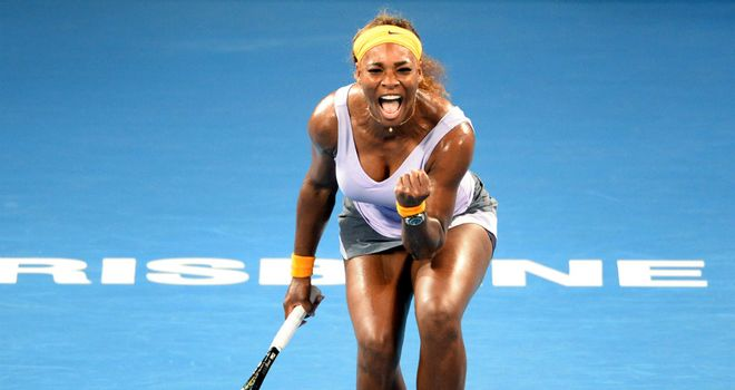 Serena Williams: beat Maria Sharapova for the 14th time in a row