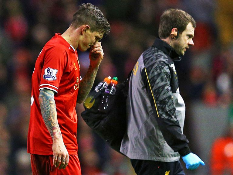 Agger: Limped off in the FA Cup match with Oldham