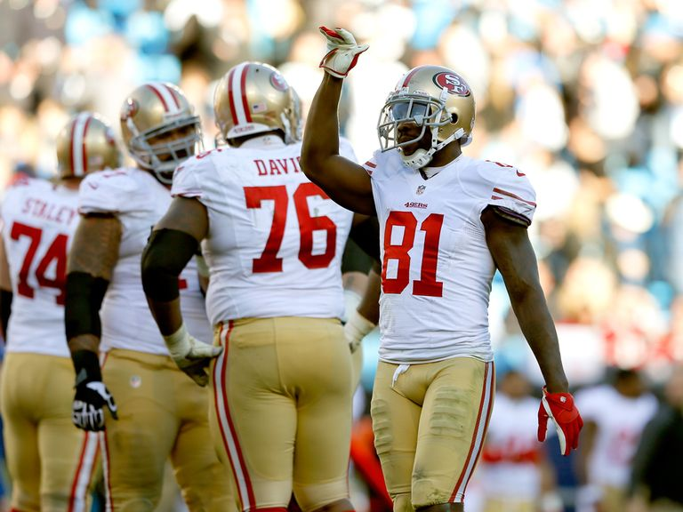 Anquan Boldin celebrates for San Francisco 49ers