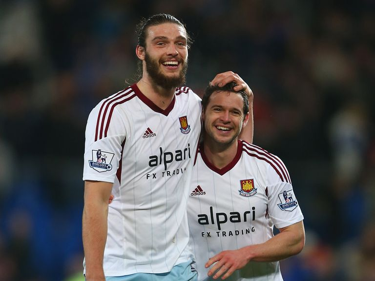 Andy Carroll (left): Returned from injury at the weekend